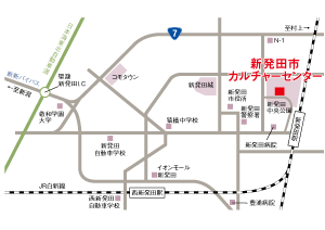 新発田市カルチャーセンターへのアクセスマップ画像
